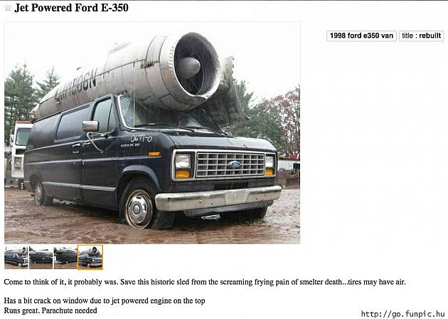 Jet Powered Ford E-350